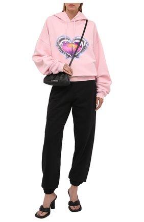 Женский хлопковое худи VETEMENTS розового цвета, арт. UA52TR790P 1601/W | Фото 2