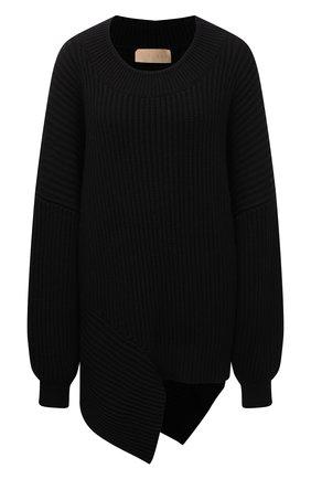 Женский хлопковый свитер RUBAN черного цвета, арт. RPS21-40.1.64.2   Фото 1