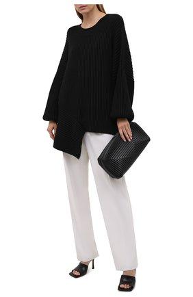 Женский хлопковый свитер RUBAN черного цвета, арт. RPS21-40.1.64.2   Фото 2