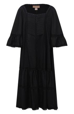 Женское хлопковое платье RUBAN черного цвета, арт. RPSU21-11.1.54.2   Фото 1