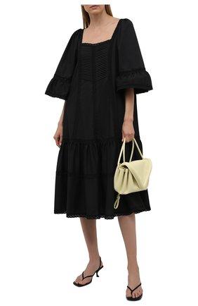 Женское хлопковое платье RUBAN черного цвета, арт. RPSU21-11.1.54.2   Фото 2