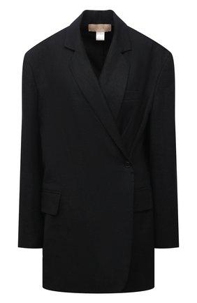 Женский льняной жакет RUBAN черного цвета, арт. RPSU21-3.1.57.2   Фото 1