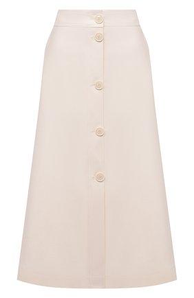 Женская хлопковая юбка BOSS кремвого цвета, арт. 50455299 | Фото 1