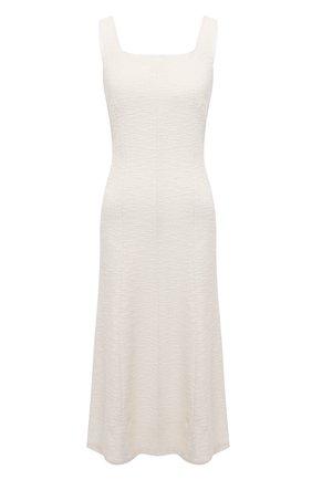 Женское хлопковое платье BOSS белого цвета, арт. 50448063 | Фото 1