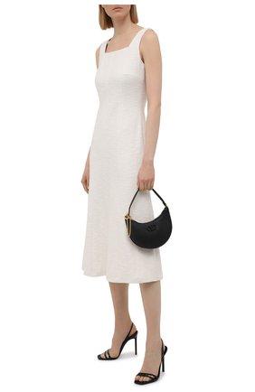 Женское хлопковое платье BOSS белого цвета, арт. 50448063 | Фото 2