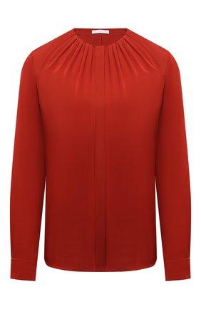 Женская шелковая блузка BOSS красного цвета, арт. 50453554 | Фото 1