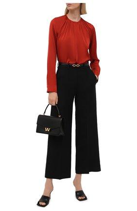 Женская шелковая блузка BOSS красного цвета, арт. 50453554 | Фото 2