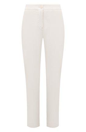 Женские хлопковые брюки BOSS молочного цвета, арт. 50460782 | Фото 1