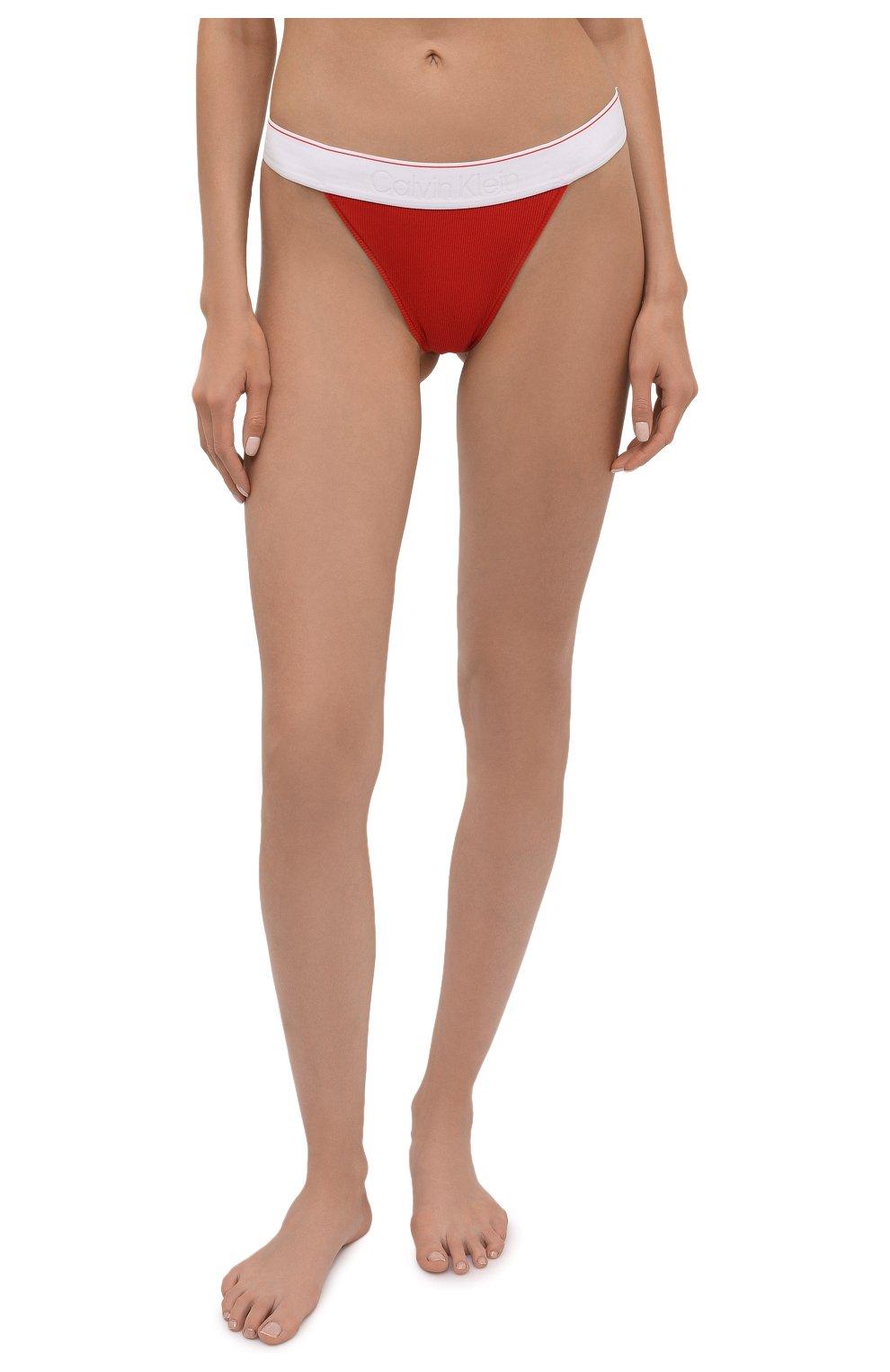 Женские трусы-стринги HERON PRESTON FOR CALVIN KLEIN красного цвета, арт. 40110WAE | Фото 2 (Женское Кросс-КТ: Трусы; Материал внешний: Хлопок)