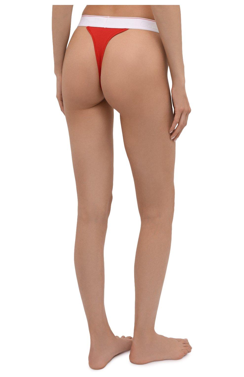 Женские трусы-стринги HERON PRESTON FOR CALVIN KLEIN красного цвета, арт. 40110WAE | Фото 3 (Женское Кросс-КТ: Трусы; Материал внешний: Хлопок)
