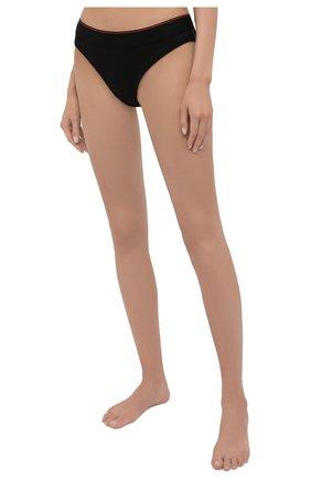 Женские трусы-слипы HERON PRESTON FOR CALVIN KLEIN черного цвета, арт. 40113WAE | Фото 2 (Женское Кросс-КТ: Трусы; Материал внешний: Хлопок)