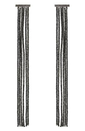 Женские серьги BRUNELLO CUCINELLI черного цвета, арт. M0RW9LS62P/M   Фото 1