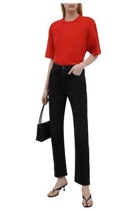 Женская хлопковая футболка HERON PRESTON FOR CALVIN KLEIN красного цвета, арт. K10K108252   Фото 2