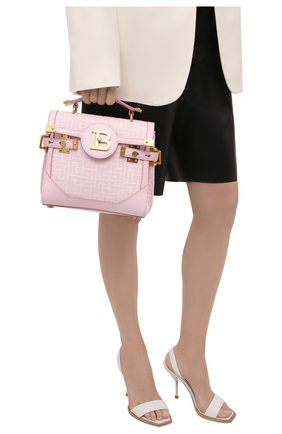 Женская сумка buzz 23 BALMAIN розового цвета, арт. WN1DB599/TJGH | Фото 2