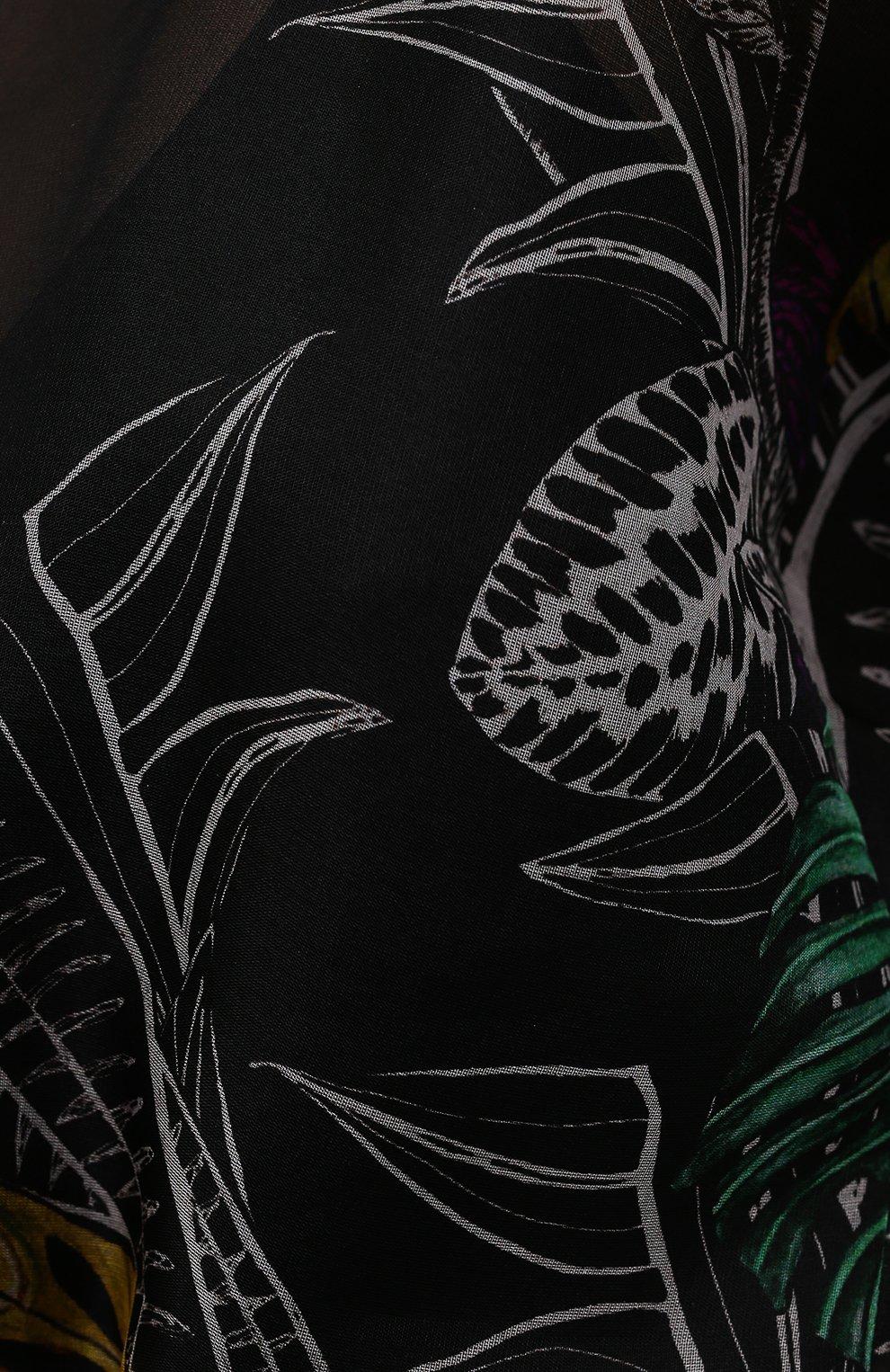Женское шелковое платье ZUHAIR MURAD разноцветного цвета, арт. DRS21323/0RSI005   Фото 5 (Материал внешний: Шелк; Случай: Вечерний; Рукава: Короткие; Длина Ж (юбки, платья, шорты): Макси; Стили: Романтичный; Женское Кросс-КТ: Платье-одежда; Материал подклада: Купро)