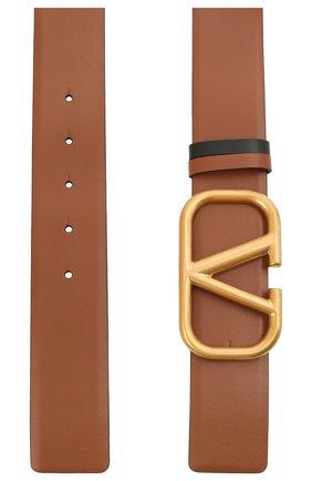 Женский кожаный ремень  VALENTINO коричневого цвета, арт. WW2T0S11/ZFR | Фото 2