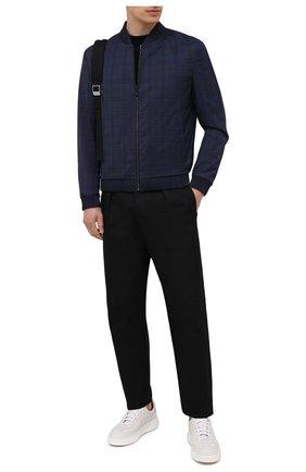 Мужской шерстяная толстовка HUGO темно-синего цвета, арт. 50454792 | Фото 2