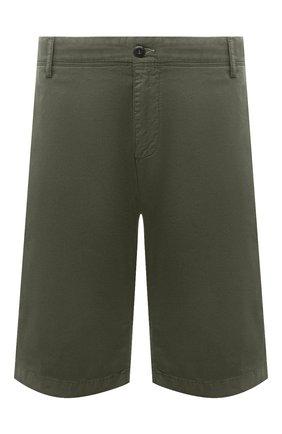 Мужские хлопковые шорты PAUL&SHARK хаки цвета, арт. 21414003/E7A | Фото 1