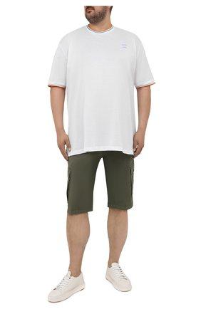 Мужские хлопковые шорты PAUL&SHARK хаки цвета, арт. 21414003/E7A | Фото 2