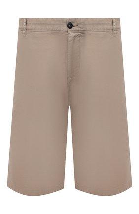 Мужские хлопковые шорты PAUL&SHARK бежевого цвета, арт. 21414003/E7A | Фото 1 (Материал внешний: Хлопок; Стили: Кэжуэл; Мужское Кросс-КТ: Шорты-одежда; Длина Шорты М: Ниже колена; Big sizes: Big Sizes; Принт: Без принта)