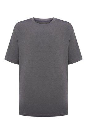 Мужская футболка из шелка и кашемира MARCO PESCAROLO темно-серого цвета, арт. JAMES/4365 | Фото 1