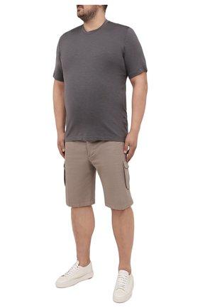 Мужская футболка из шелка и кашемира MARCO PESCAROLO темно-серого цвета, арт. JAMES/4365 | Фото 2