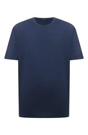 Мужская футболка из хлопка и кашемира KITON темно-синего цвета, арт. UMK0029/4XL-8XL | Фото 1