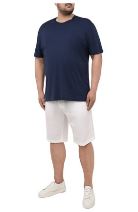 Мужская футболка из хлопка и кашемира KITON темно-синего цвета, арт. UMK0029/4XL-8XL | Фото 2