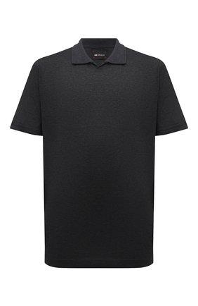 Мужское хлопковое поло KITON темно-серого цвета, арт. UK1263L | Фото 1