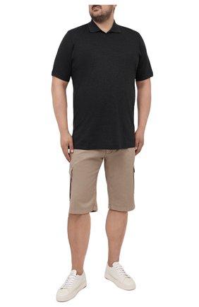 Мужское хлопковое поло KITON темно-серого цвета, арт. UK1263L | Фото 2