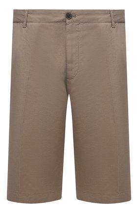 Мужские шорты из хлопка и льна PAUL&SHARK бежевого цвета, арт. 21414041/FJD/62-64 | Фото 1