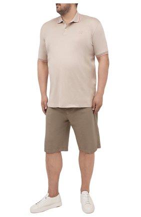 Мужские шорты из хлопка и льна PAUL&SHARK бежевого цвета, арт. 21414041/FJD/62-64 | Фото 2