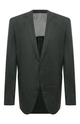 Мужской пиджак из шерсти и шелка EDUARD DRESSLER хаки цвета, арт. 7051/21033 | Фото 1