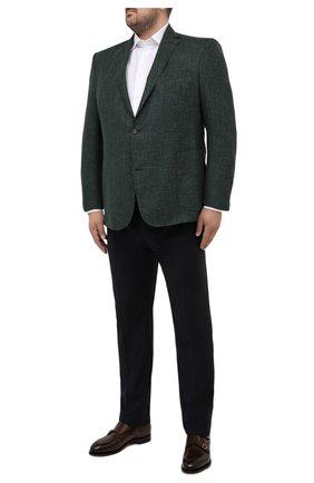 Мужской пиджак из шерсти и шелка EDUARD DRESSLER хаки цвета, арт. 7051/21033 | Фото 2