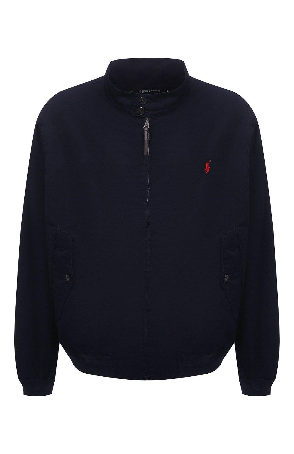 Мужской хлопковый бомбер POLO RALPH LAUREN темно-синего цвета, арт. 711776849/PRL BS   Фото 1 (Кросс-КТ: Куртка; Big sizes: Big Sizes; Рукава: Длинные; Принт: Без принта; Материал внешний: Хлопок; Длина (верхняя одежда): Короткие; Материал подклада: Хлопок; Стили: Кэжуэл)