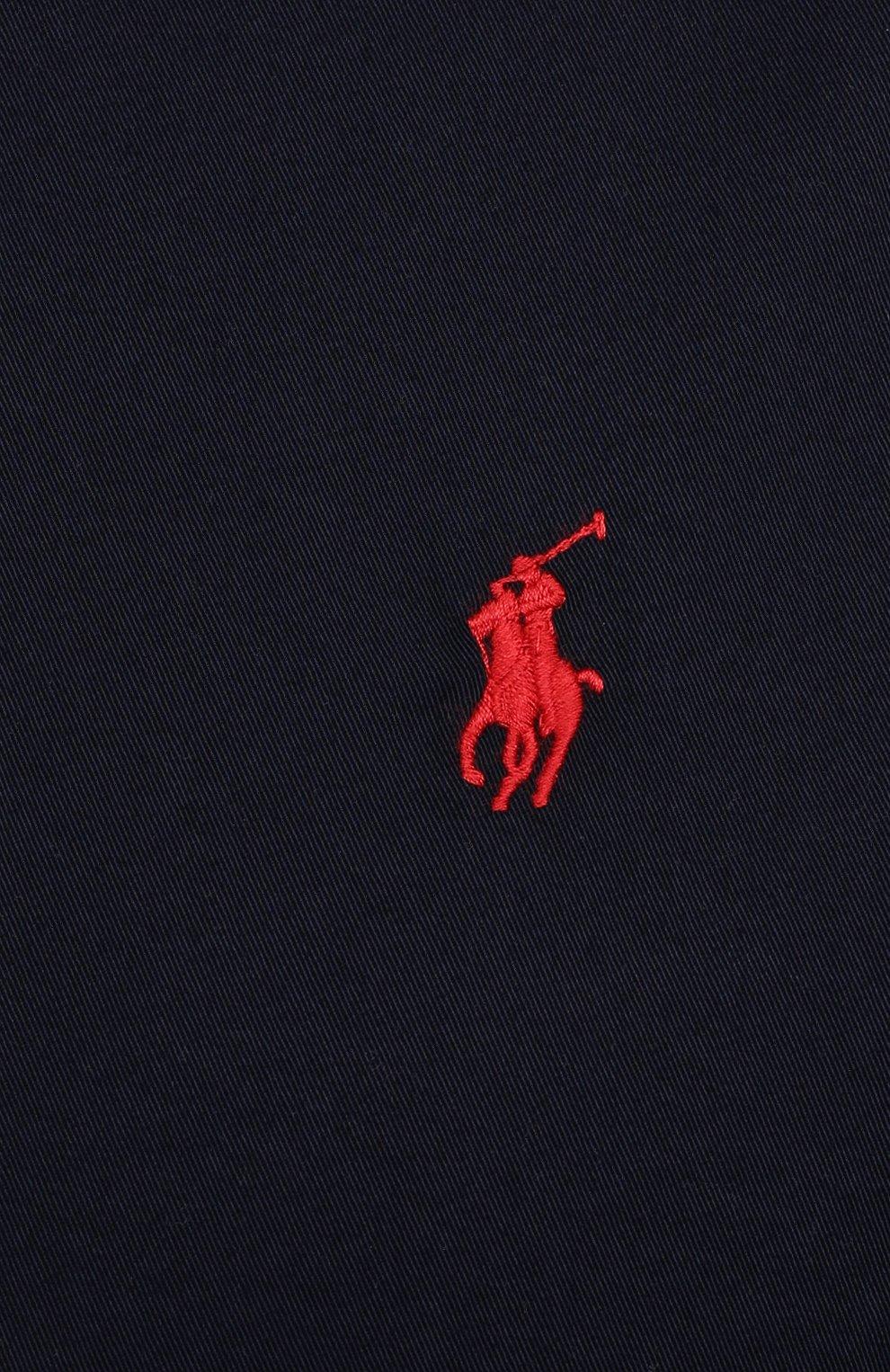 Мужской хлопковый бомбер POLO RALPH LAUREN темно-синего цвета, арт. 711776849/PRL BS   Фото 5 (Кросс-КТ: Куртка; Big sizes: Big Sizes; Рукава: Длинные; Принт: Без принта; Материал внешний: Хлопок; Длина (верхняя одежда): Короткие; Материал подклада: Хлопок; Стили: Кэжуэл)