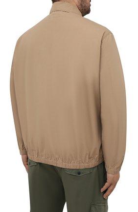 Мужской хлопковый бомбер POLO RALPH LAUREN бежевого цвета, арт. 711704084/PRL BS | Фото 4 (Кросс-КТ: Куртка; Big sizes: Big Sizes; Рукава: Длинные; Принт: Без принта; Материал внешний: Хлопок; Длина (верхняя одежда): Короткие; Стили: Кэжуэл)