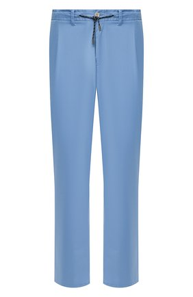 Мужские хлопковые брюки EDUARD DRESSLER голубого цвета, арт. 150138/51W09 | Фото 1