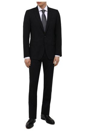 Мужские кожаные дерби MAGNANNI черного цвета, арт. 22729/WIND | Фото 2