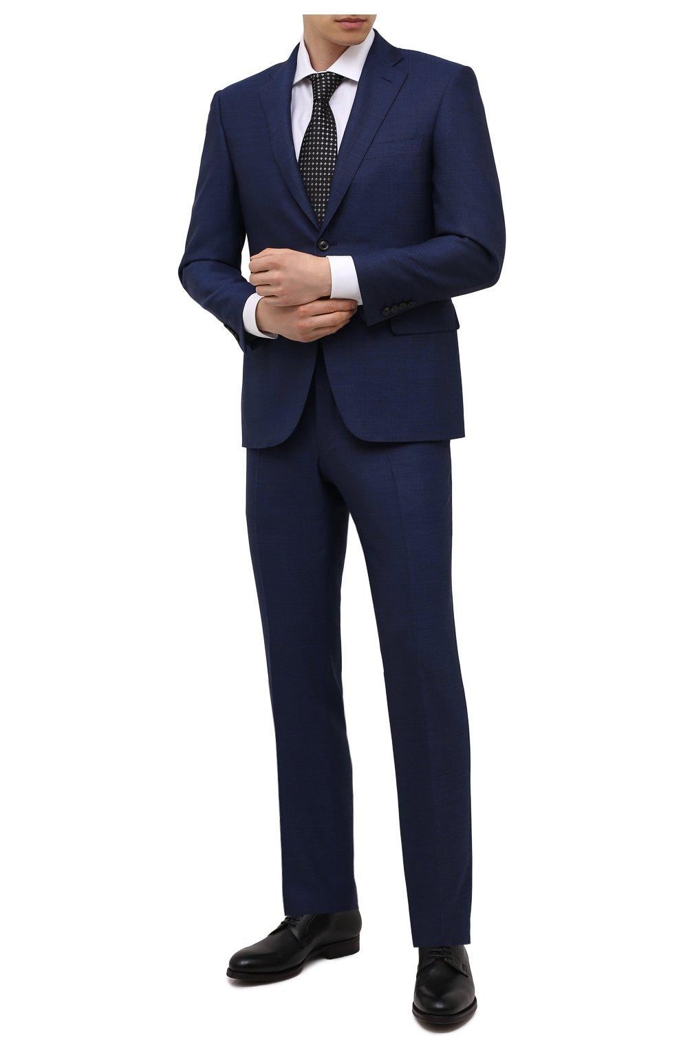 Мужские кожаные дерби MAGNANNI черного цвета, арт. 23384/DUVEL   Фото 2 (Материал внутренний: Натуральная кожа; Стили: Классический)
