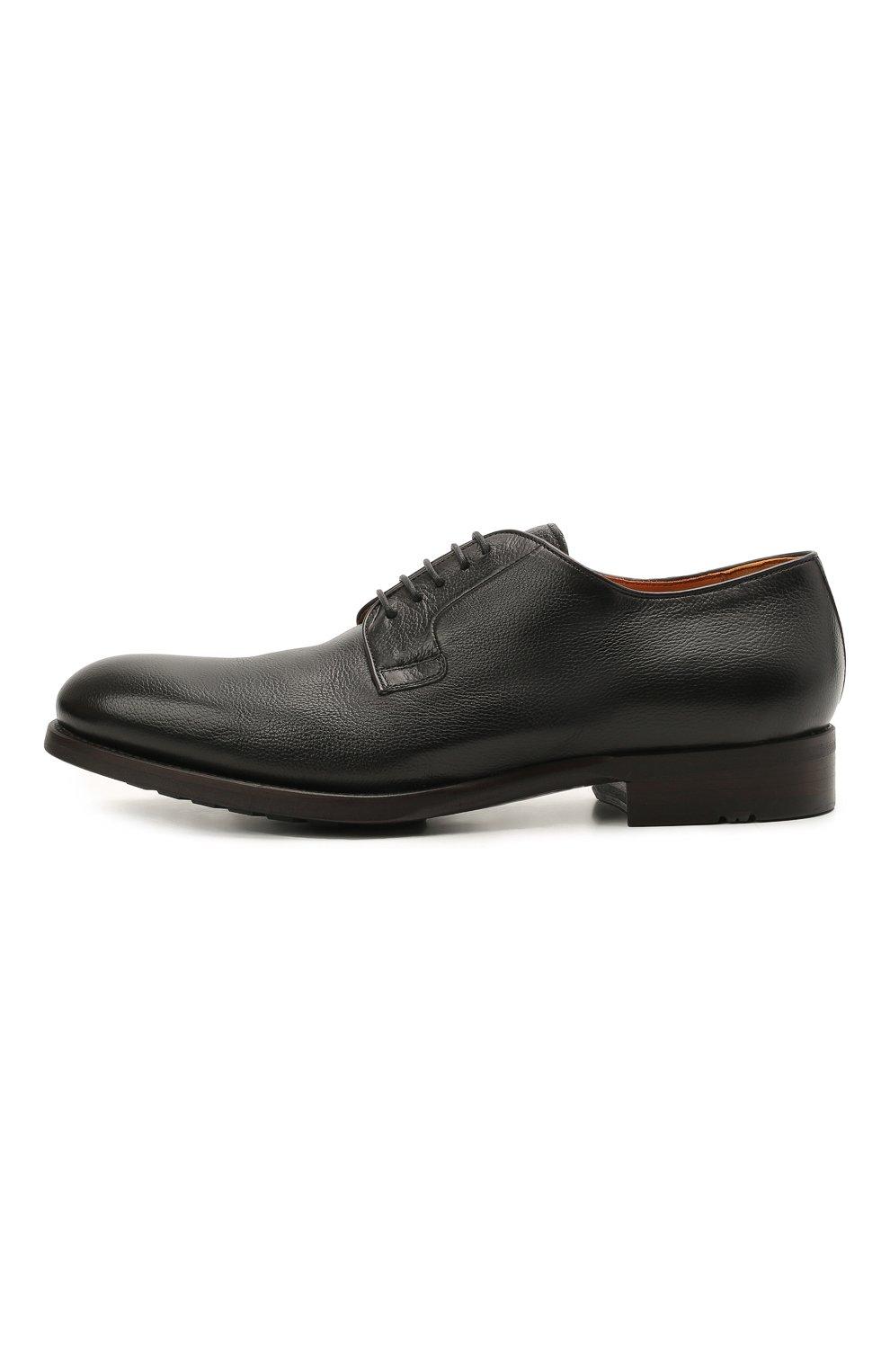 Мужские кожаные дерби MAGNANNI черного цвета, арт. 23384/DUVEL   Фото 3 (Материал внутренний: Натуральная кожа; Стили: Классический)