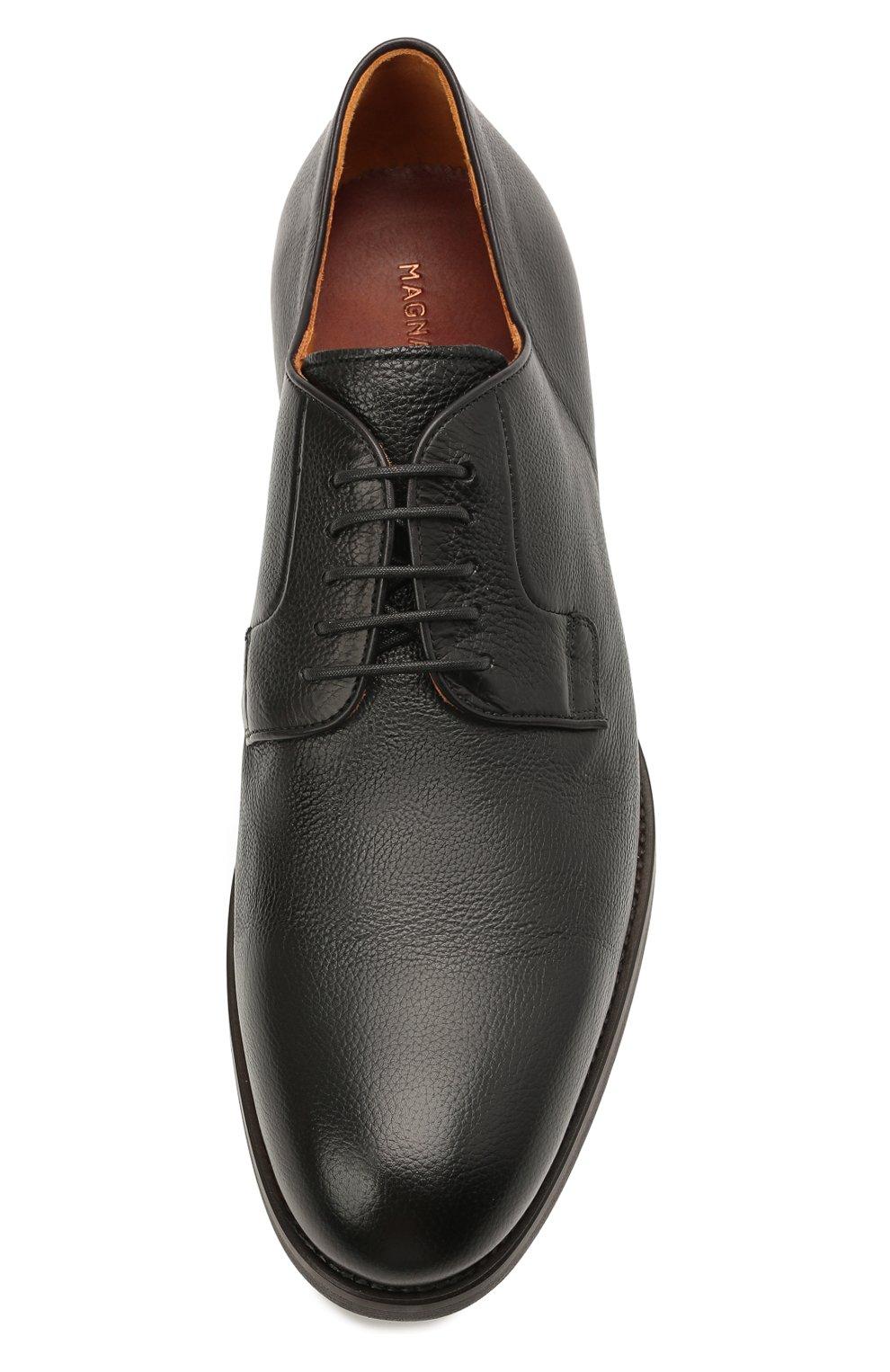 Мужские кожаные дерби MAGNANNI черного цвета, арт. 23384/DUVEL   Фото 5 (Материал внутренний: Натуральная кожа; Стили: Классический)