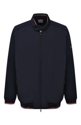 Мужской комбинированный кардиган PAUL&SHARK темно-синего цвета, арт. 21411817/H20/3XL-6XL | Фото 1