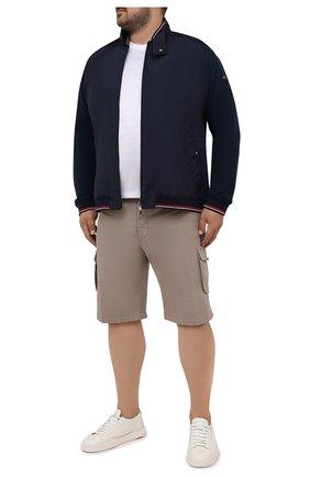 Мужской комбинированный кардиган PAUL&SHARK темно-синего цвета, арт. 21411817/H20/3XL-6XL | Фото 2
