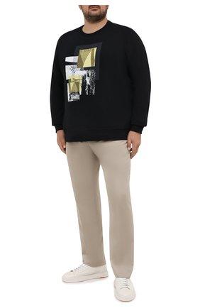 Мужской хлопковый свитшот PAUL&SHARK черного цвета, арт. 21411931/C00/3XL-6XL | Фото 2