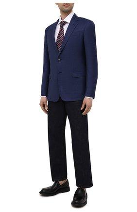 Мужской пиджак из шерсти и кашемира GIORGIO ARMANI синего цвета, арт. 8WGGG00K/T02W8 | Фото 2 (1-2-бортные: Однобортные; Пиджаки М: Прямой; Материал подклада: Вискоза; Длина (для топов): Стандартные; Материал внешний: Шерсть; Рукава: Длинные; Случай: Коктейльный; Стили: Классический)