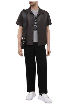 Мужская хлопковая футболка GIORGIO ARMANI серого цвета, арт. 6KSM71/SJSVZ | Фото 2