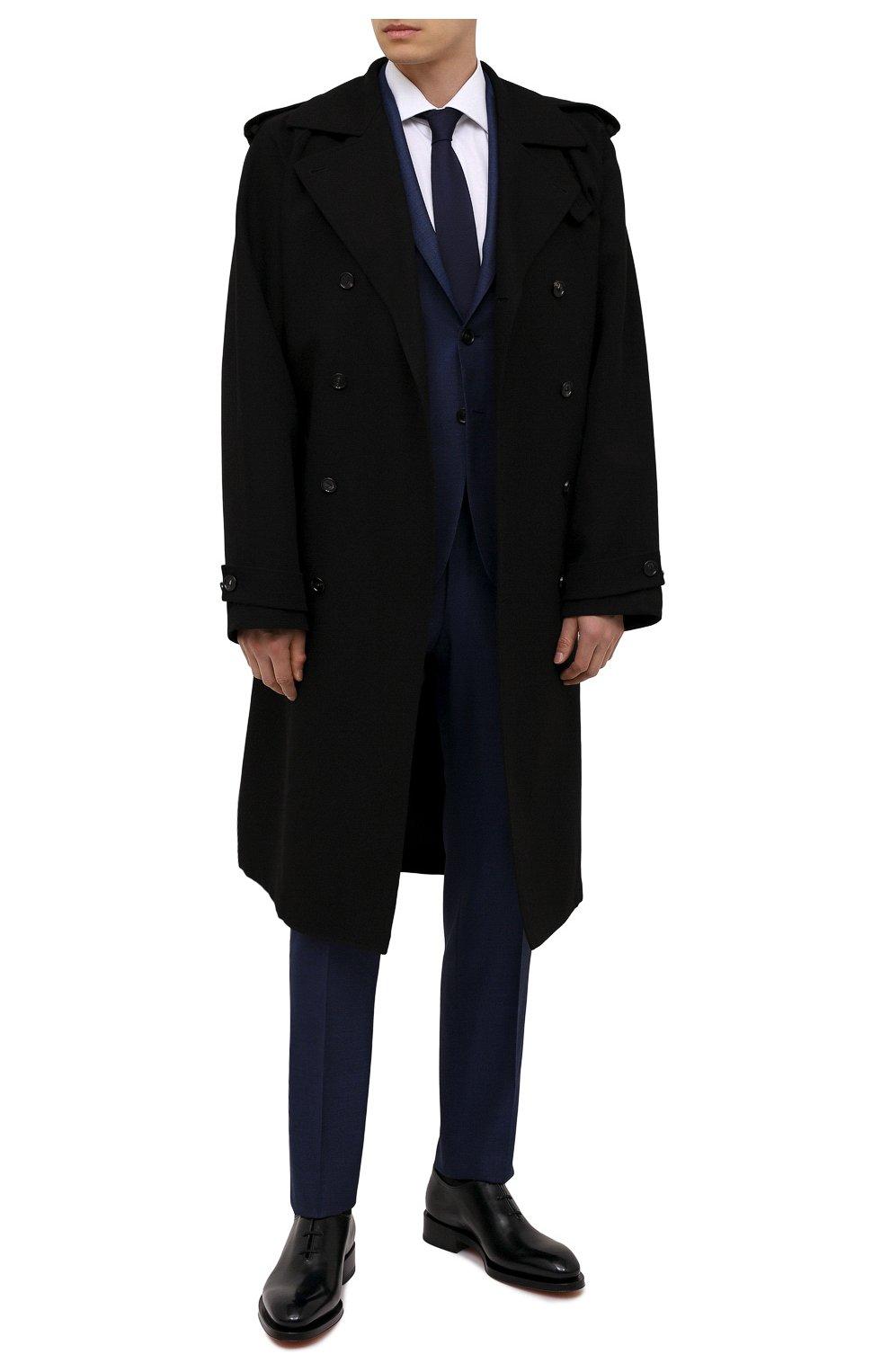 Мужские кожаные оксфорды SANTONI черного цвета, арт. MCCG16229MD3HVVDN01   Фото 2 (Материал внутренний: Натуральная кожа; Стили: Классический)