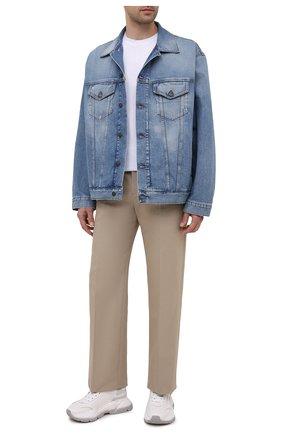 Мужская джинсовая куртка ACNE STUDIOS синего цвета, арт. B90510 | Фото 2