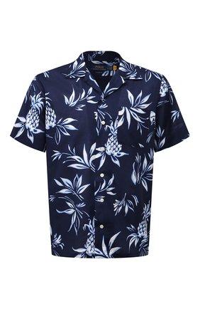 Мужская хлопковая рубашка POLO RALPH LAUREN синего цвета, арт. 710842892/5395   Фото 1